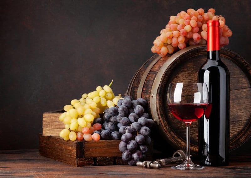 Wijn met druiven